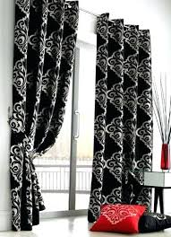 Black And Grey Curtains Black And Grey Curtains Teawing Co