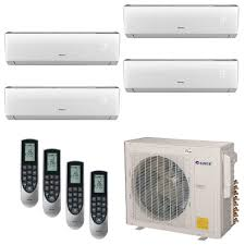 ductless mini split cassette gree multi 21 zone 36 000 btu 3 0 ton ductless mini split air