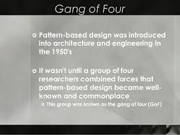 of four design patterns design patterns ppt