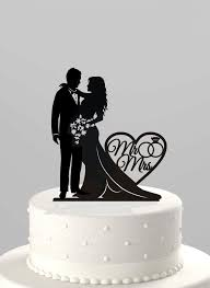 mr and mr cake topper wedding cake topper silhouette and groom with mr mrs