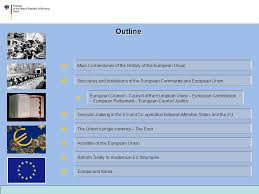 Council Of European Union History 50 Years Of The European Union Dr Mathias Bock Ll B Ppt