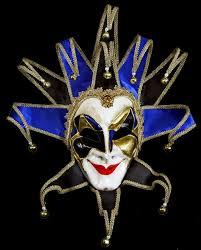 venetian jester mask blue joker mask venetian joker reale mask venetian mask society