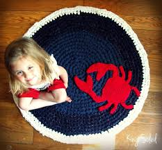 Round Nautical Rugs 27 Best Baby Rugs Images On Pinterest Crochet Rugs Carpets And