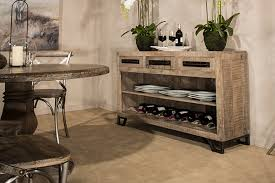 bridgewater console table with removable wine rack rubbed black wood