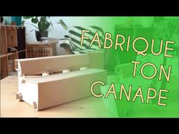 fabriquer canapé fabriquer un canapé en meubles écologiques