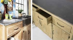 meuble cuisine bois recyclé cuisine où trouver des meubles indépendants en bois brut le