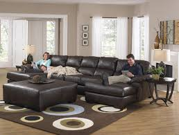 Sofa Ottoman Set Furniture Two Chaise Sectional Sofa With Five Total Seats By