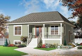 raised bungalow house plans w3113 v1 2 bedroom country style bungalow with full basement