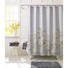 Yellow And White Shower Curtain Yellow Gray And White Shower Curtain Shower Curtains Ideas
