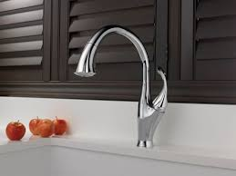 One Touch Kitchen Faucet Faucet Com 9192 Ar Dst In Arctic Stainless By Delta