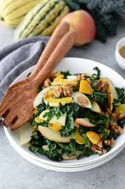 autumn squash kale and apple salad delish knowledge