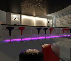 kitchen interior dining room sparkling modern futuristic
