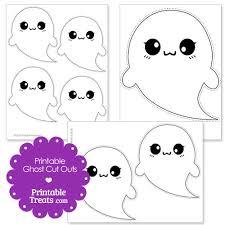 printable halloween ghost cut outs u2014 printable treats