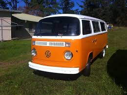 orange volkswagen van jaffa 1977 vw kombi bus for sale restored righteous kombis