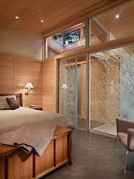 mid century modern wood paneling bedroom midcentury with window