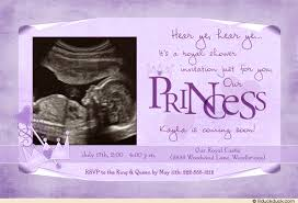 purple baby shower ideas princess baby shower invitation royal ultrasound photo