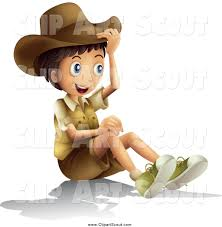 child sitting clipart clipart of a happy explorer boy sitting by graphics rf 399
