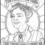 Eleanor Roosevelt Portraits Coloring Pages For Adults Regarding Eleanor Roosevelt Coloring Pages