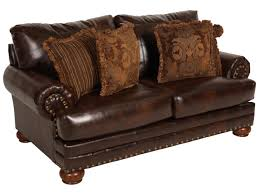 Leather Loveseats Ashley Millennium Performance Leather Antique Loveseat Mathis