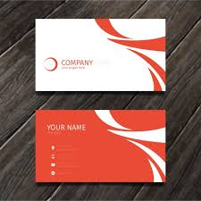 Free Business Card Maker Download Red Minimal Abstract Business Card Tempate Vector Free Download