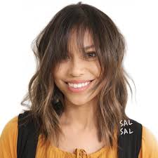 hairstyles for curly hair with bangs medium length 20 best shag haircuts for thin hair that add body