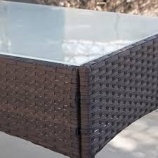 4pcs Simple Style Sofa Set 4pc Rattan Wicker Patio Furniture Set Outdoor Cushioned Sofa
