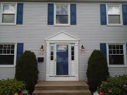 Shutters For Homes Exterior - gray siding with blue shutters google search hahaha yes
