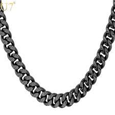 white necklace men images 2018 unique new 2016 black gun plated long necklace for men jpg