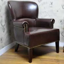 Traditional Leather Armchairs Uk Chesterfield Queen Anne High Back Wing Chair In Vintage Brown