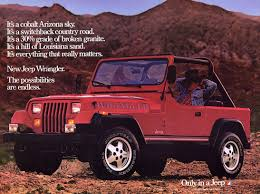 1980s jeep wrangler for sale jeep wrangler ad from 1987 jeep ads 1980s jeeps