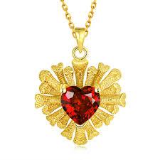 platinum plated necklace images Women classic heart gold plated rose gold plated platinum plated jpeg