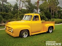 ford 1954 truck 1005clt 04 o 1954 ford f100 truck restored front bumper