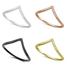 14k gold chevron rings sterling silver v shaped ring view chevron ring ebay