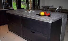 comptoir ciment cuisine béton nouvelle cuisine design