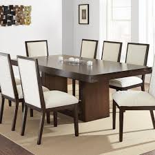 Modern Pedestal Table by Steve Silver Antonio Dining Table With Contemporary Pedestal Base