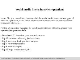 marketing intern job description social media intern interview