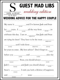wedding mad libs template wedding mad libs template free unique guest book alternative