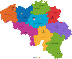 Map States by Belgium Map Blank Political Belgium Map With Cities
