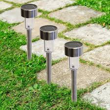 Brightest Solar Landscape Lighting - 24 pack outdoor stainless steel led solar power lights lawn