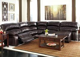 san diego coffee leather sectional recliner black leather