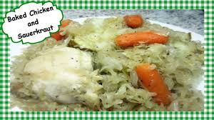 one pot baked chicken and sauerkraut easy u0026 healthy recipe youtube