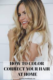 how to color correct u0026 maintain your hair color at home barefoot