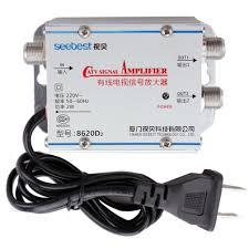 amazon com catv cable tv antenna signal amplifier amp splitter