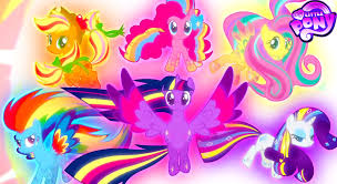 my little pony mane 6 coloring book rainbow power transformation