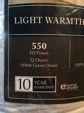 the seasons collection light warmth white goose down comforter patternless 100 cotton comforters bedding sets ebay