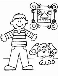 printable blues clues coloring pages for kids cool bkids christmas