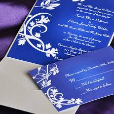 royal wedding cards classice royal blue wines pocket wedding invitations iwps068