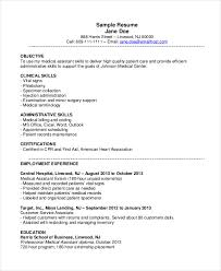 resume templates for medical assistant cover letter medical