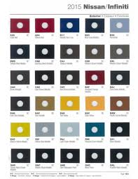 paint chips 2015 nissan infiniti