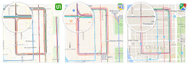 Chicago Loop Map by Transit Maps Apple Vs Google Vs Us U2013 Transit U2013 Medium